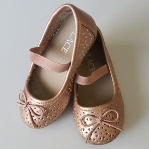 Rose Gold Ballet Flats